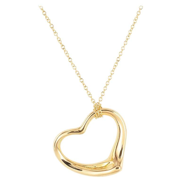 Tiffany & Co. Elsa Peretti Heart Shaped Yellow Gold Pendant For Sale