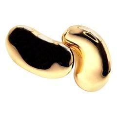Tiffany & Co. Elsa Peretti Large Gold Bean Earrings