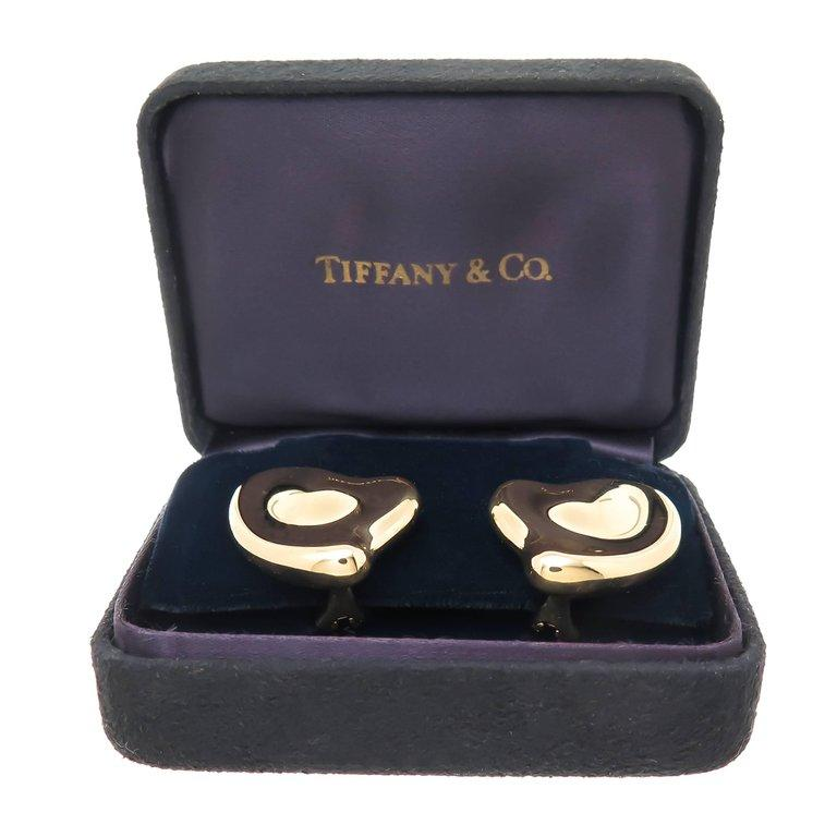 Women's Tiffany & Co. Elsa Peretti Large Gold Heart Earrings For Sale