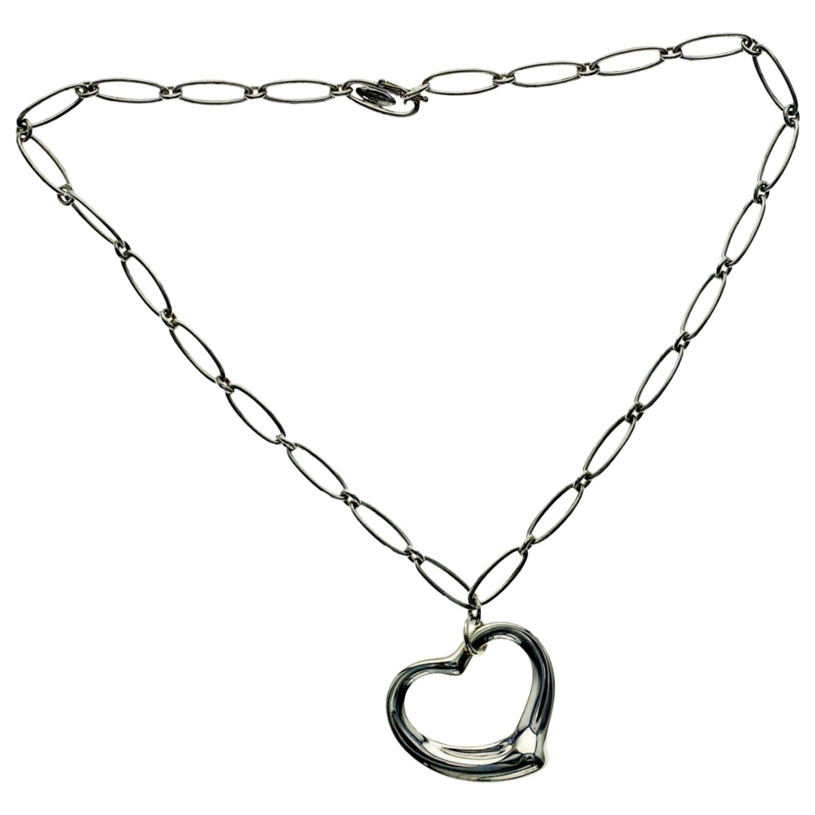5674fbbb0 Tiffany and Co. Sterling Silver Heart Tag Toggle Necklace For Sale at  1stdibs