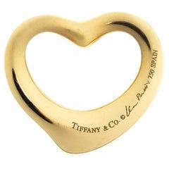 Tiffany & Co. Elsa Peretti Open Heart 18K Yellow Gold Pendant