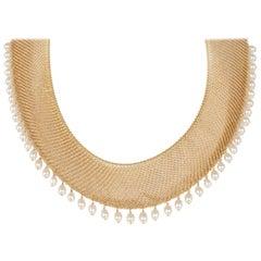 Tiffany & Co. Elsa Peretti Pearl Necklace in 18 Karat Yellow Gold