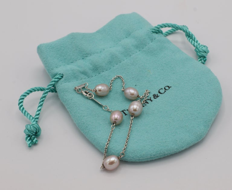 Tiffany & Co. Elsa Peretti Pearls by the Yard Freshwater Cultured Pearl Bracelet For Sale 4