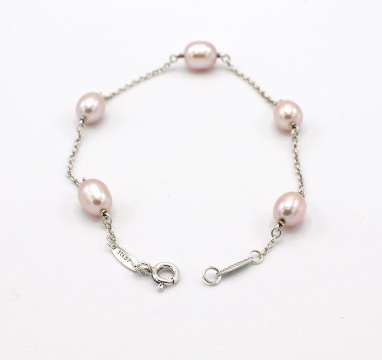 Modern Tiffany & Co. Elsa Peretti Pearls by the Yard Freshwater Cultured Pearl Bracelet For Sale