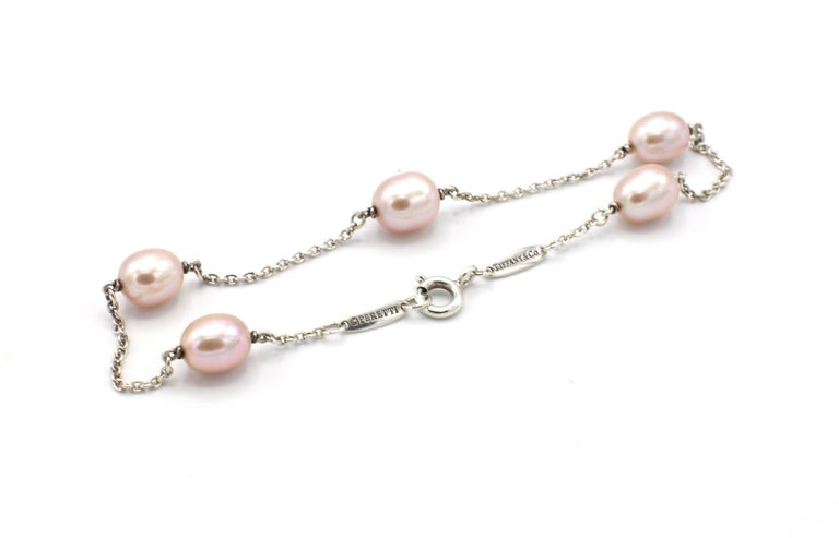 Women's Tiffany & Co. Elsa Peretti Pearls by the Yard Freshwater Cultured Pearl Bracelet For Sale
