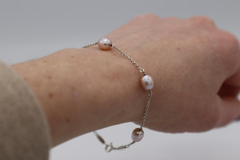Tiffany & Co. Elsa Peretti Pearls by the Yard Freshwater Cultured Pearl Bracelet For Sale 2