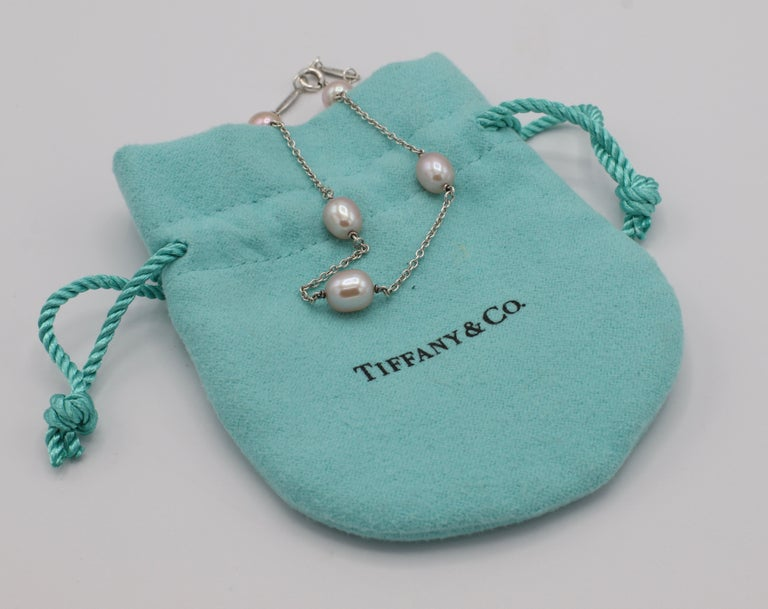 Tiffany & Co. Elsa Peretti Pearls by the Yard Freshwater Cultured Pearl Bracelet For Sale 3