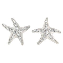 Tiffany & Co. Elsa Peretti Platinum Starfish Diamond Earrings