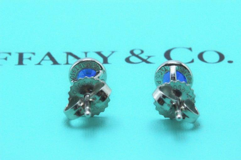 Women's or Men's Tiffany & Co. Elsa Peretti Sapphire Color, the Yard Earrings 0.70 Carat Platinum For Sale