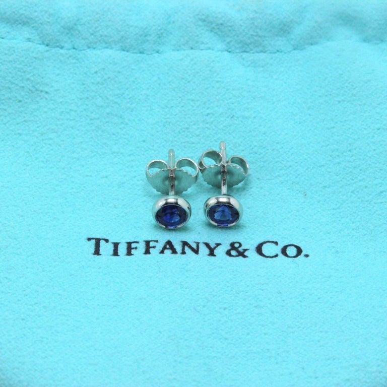 Tiffany & Co. Elsa Peretti Sapphire Color, the Yard Earrings 0.70 Carat Platinum For Sale 1