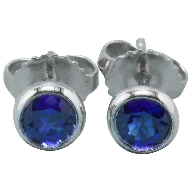 Tiffany & Co. Elsa Peretti Sapphire Color, the Yard Earrings 0.70 Carat Platinum For Sale