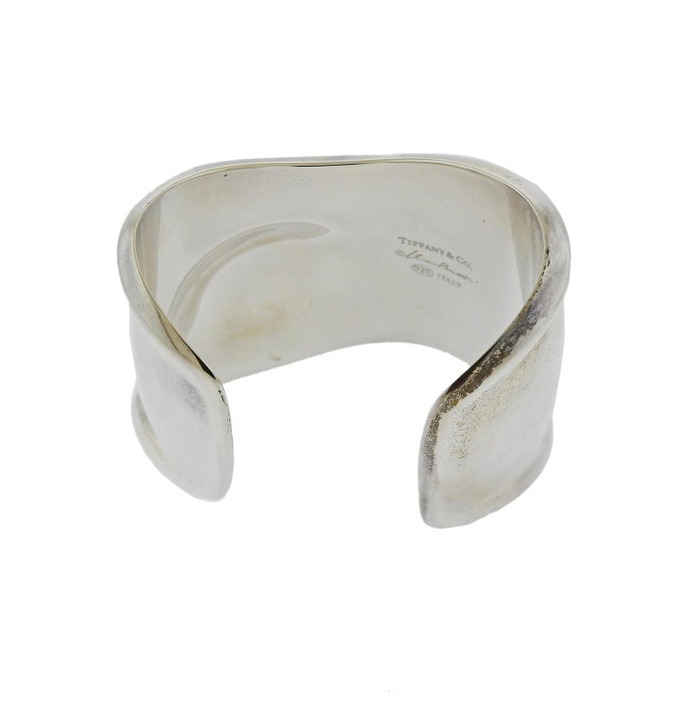 Tiffany & Co. Elsa Peretti Silver Bone Cuff Bracelet In Excellent Condition For Sale In Lahaska, PA