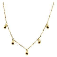 Tiffany & Co. Elsa Peretti Solid 18 Karat Gold 'Beans' Necklace