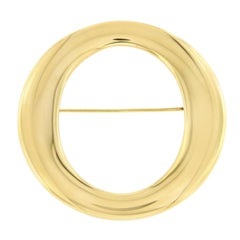 Tiffany & Co. Elsa Peretti Spain 18 Karat Yellow Gold Sevillana Brooch