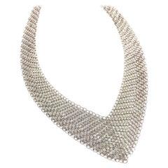 Tiffany & Co. Elsa Peretti Sterling Mesh Bib wrap Necklace