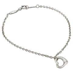 Tiffany & Co. Elsa Peretti Sterling Silver Open Heart Link Bracelet