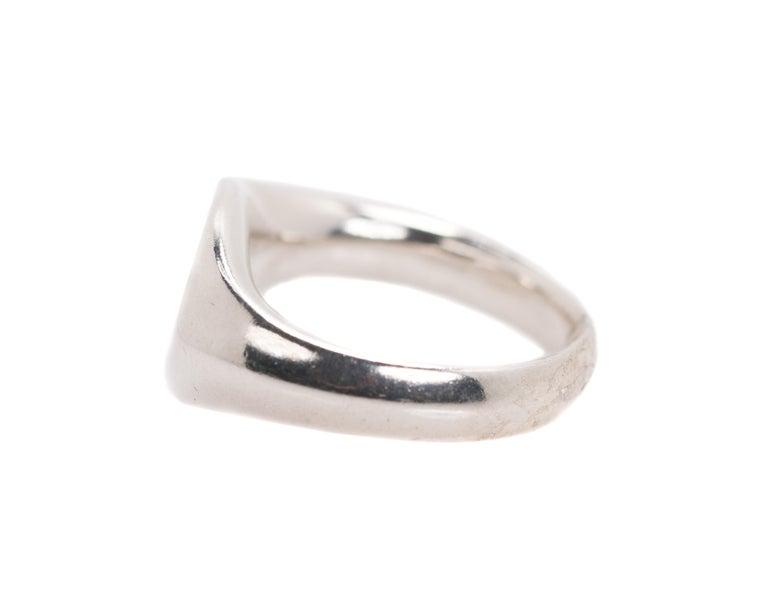 Women's or Men's Tiffany & Co. Elsa Peretti Sterling Silver Ring For Sale