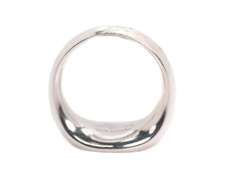 Tiffany & Co. Elsa Peretti Sterling Silver Ring For Sale 2