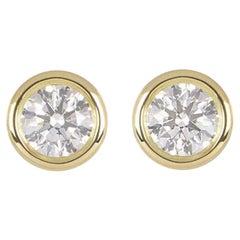 Tiffany & Co. Elsa Peretti Stud Earrings 1.14 Carat