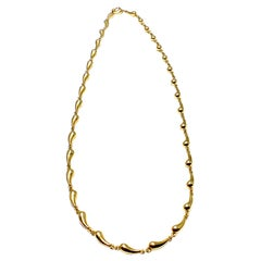 Tiffany & Co. Elsa Peretti Tear Drop Necklace and Bracelet in 18 Karat Gold