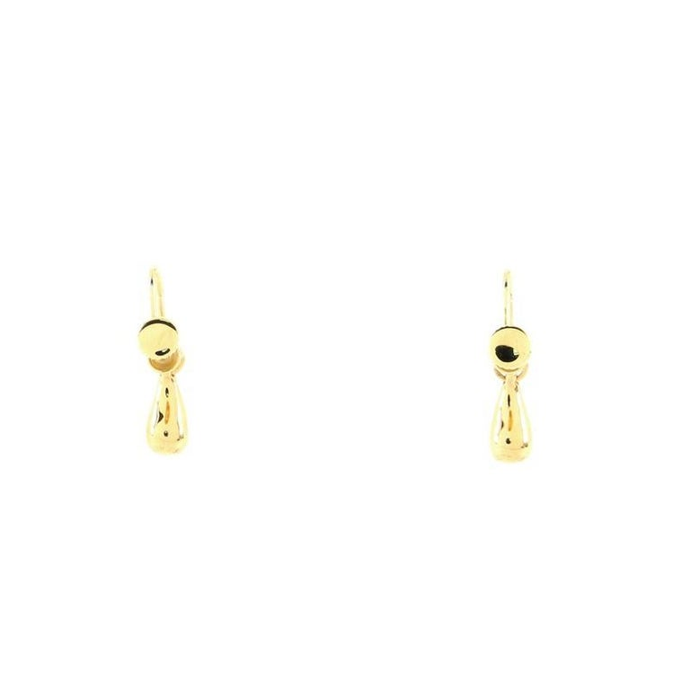 Tiffany & Co. Elsa Peretti Teardrop Earrings 18K Yellow Gold In Good Condition For Sale In New York, NY