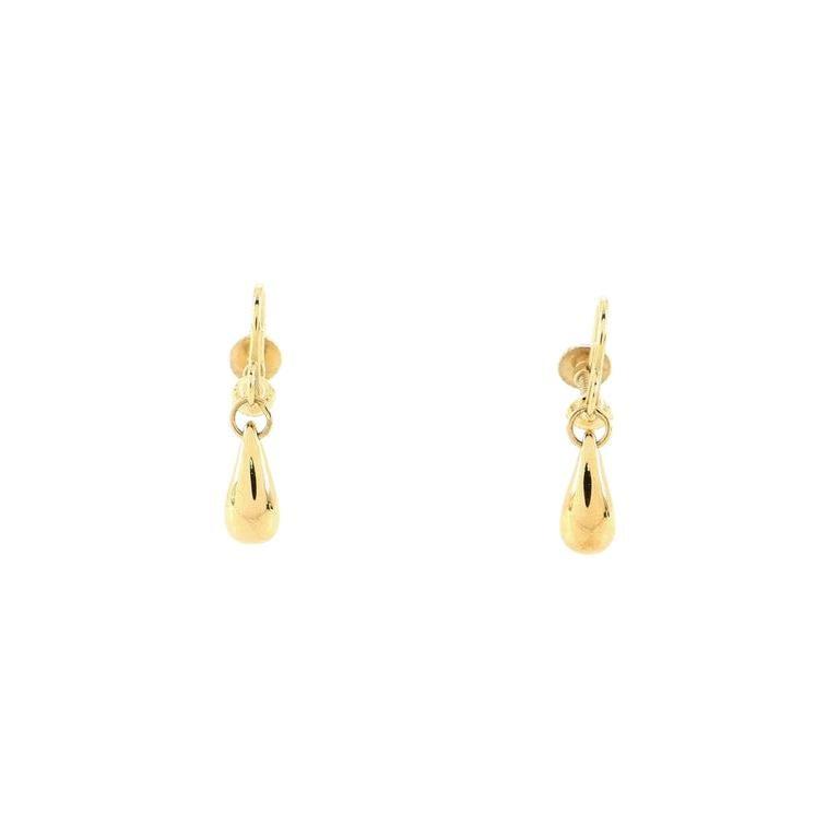 Tiffany & Co. Elsa Peretti Teardrop Earrings 18K Yellow Gold For Sale