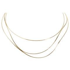 Tiffany & Co. Elsa Peretti Wave Necklace in 18 Karat Yellow Gold