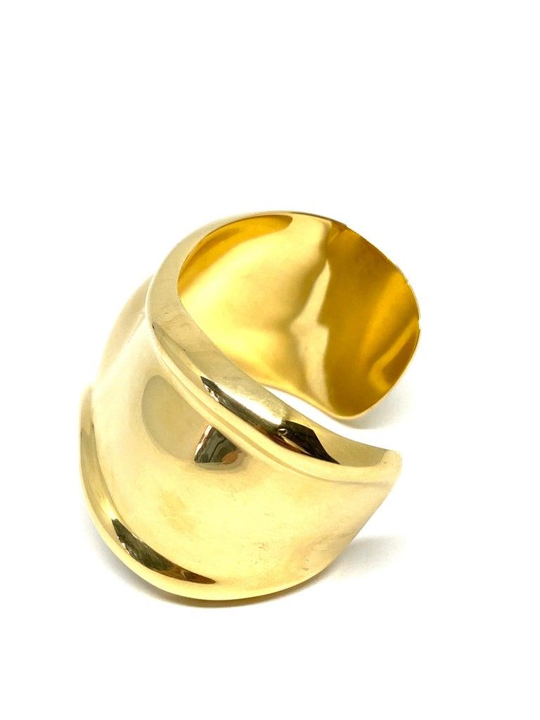 Women's Tiffany & Co. Elsa Peretti Yellow Gold Small Bone Cuff Bangle Bracelet