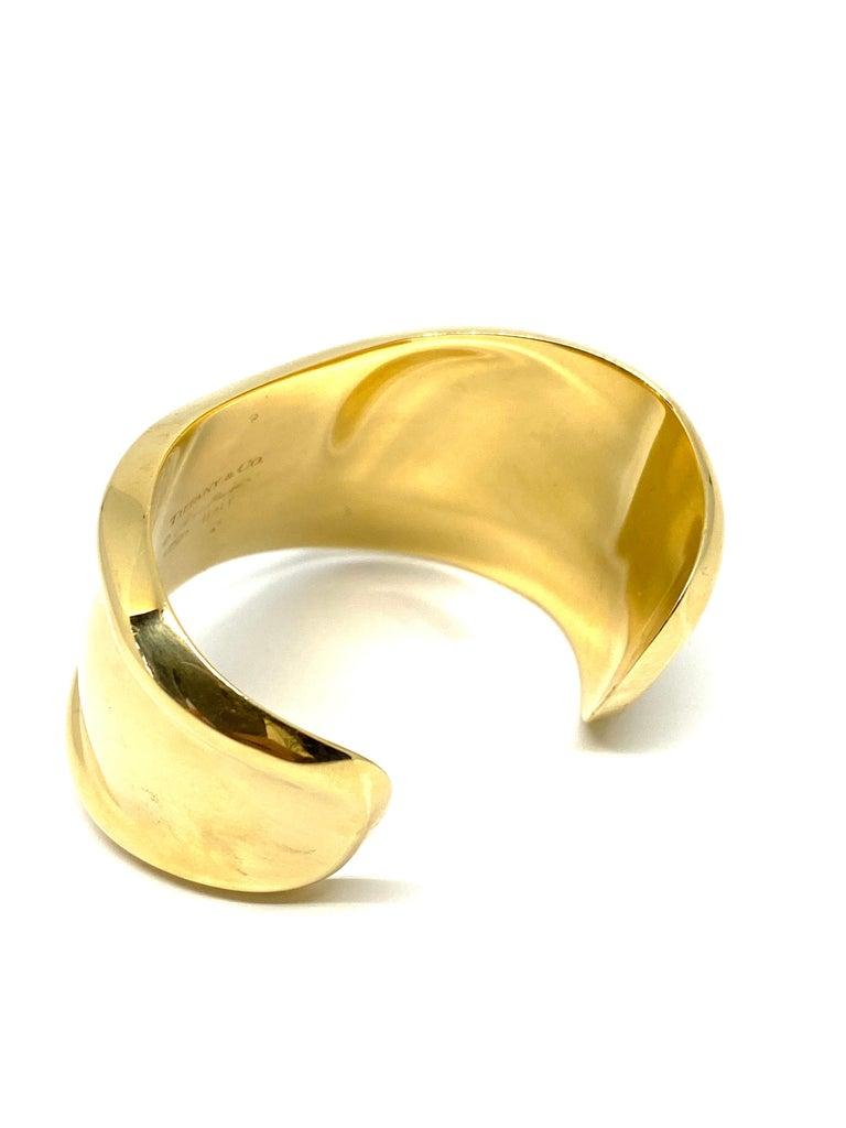 Tiffany & Co. Elsa Peretti Yellow Gold Small Bone Cuff Bangle Bracelet  1
