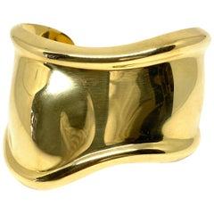 Tiffany & Co. Elsa Peretti Yellow Gold Small Bone Cuff Bangle Bracelet