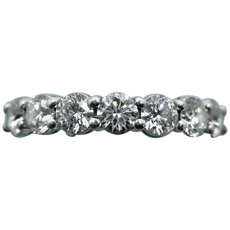 Tiffany & Co. Embrace Band Ring in Platinum 7 Diamond Anniversary Ring For Sale