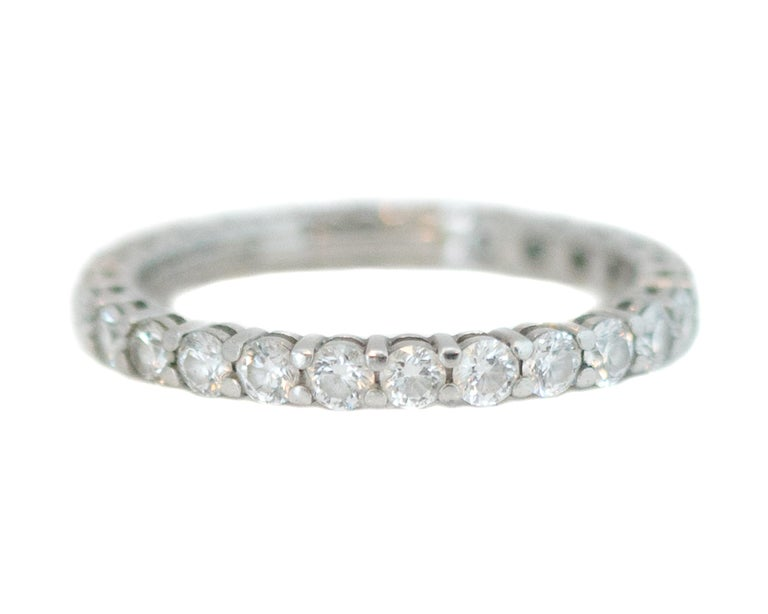 Contemporary Tiffany & Co. Embrace Diamond and Platinum Eternity Band Ring For Sale