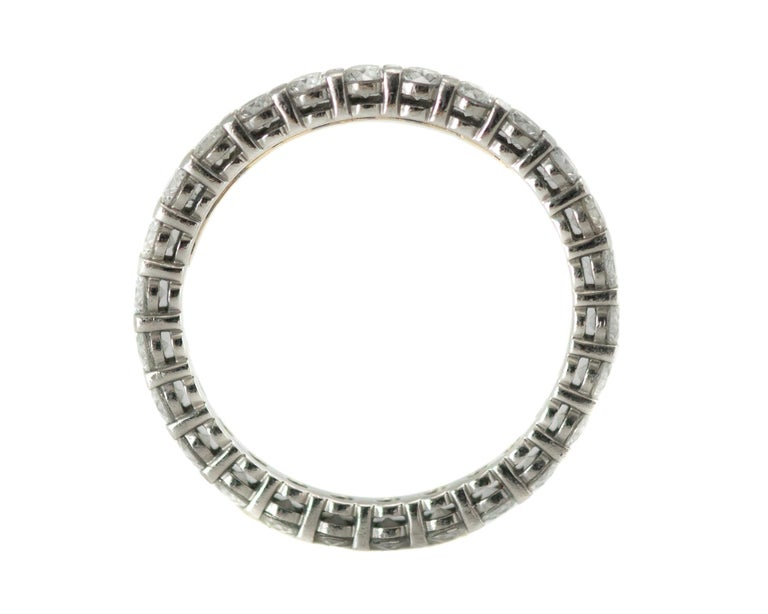 Round Cut Tiffany & Co. Embrace Diamond and Platinum Eternity Band Ring For Sale