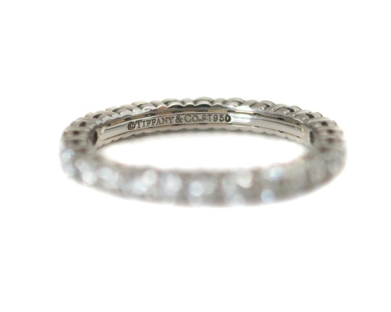 Tiffany And Co Embrace Diamond And Platinum Eternity Band