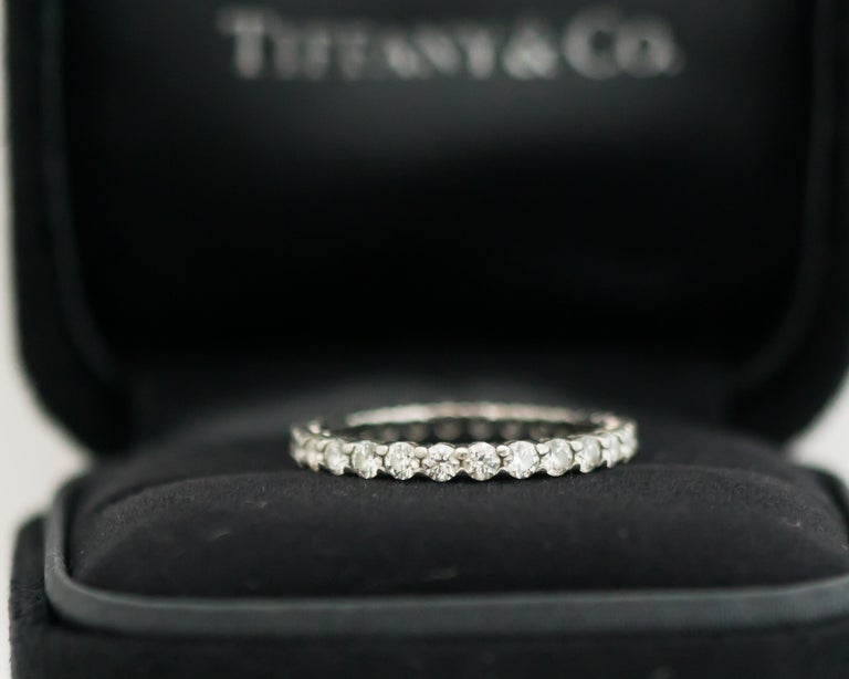 Women's Tiffany & Co. Embrace Diamond and Platinum Eternity Band Ring For Sale