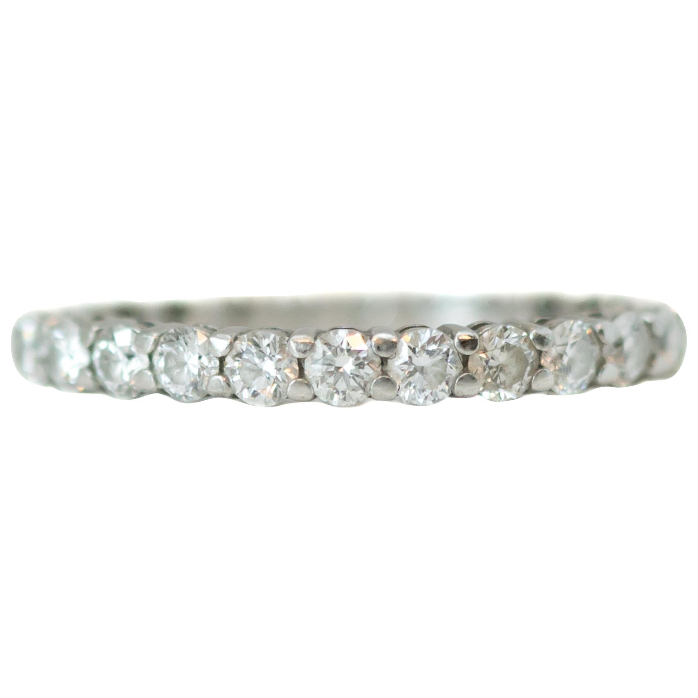 Tiffany & Co. Embrace Diamond and Platinum Eternity Band Ring