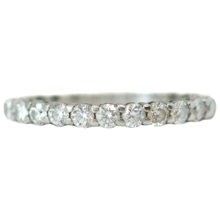 Tiffany & Co. Embrace Diamond and Platinum Eternity Band Ring For Sale