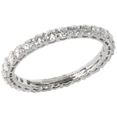 Tiffany & Co. Embrace Diamond Eternity Band in Platinum 0.85 Carat