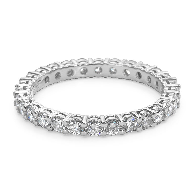 Tiffany And Co Embrace Diamond Eternity Band In Platinum