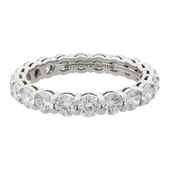 Tiffany & Co. Embrace Diamond Platinum Eternity Band 1.80 Carat
