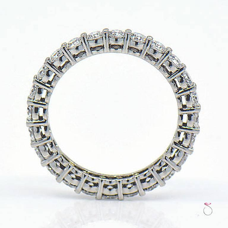 Modern Tiffany & Co. Embrace Diamond Platinum Eternity Band 1.96 Carat For Sale