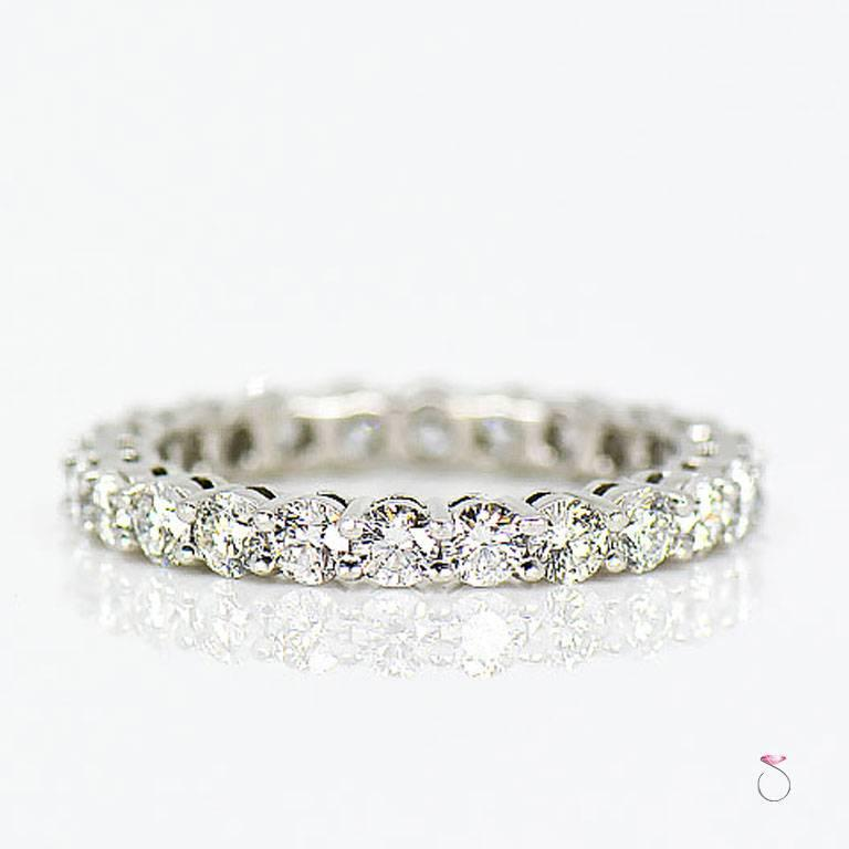 Tiffany & Co. Embrace Diamond Platinum Eternity Band 1.96 Carat In Excellent Condition For Sale In Honolulu, HI