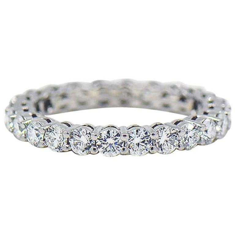 be78029c0ca Tiffany and Co. Embrace Diamond Platinum Eternity Band 1.96 Carat at ...