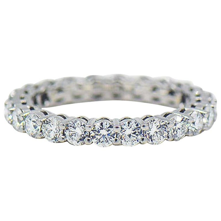 Tiffany & Co. Embrace Diamond Platinum Eternity Band 1.96 Carat For Sale