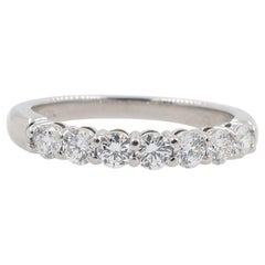 Tiffany & Co. Embrace Diamond Shared Prong Band Ring in Platinum