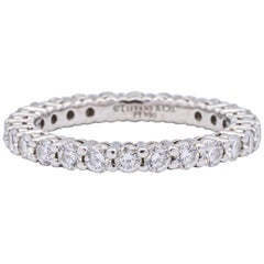 Tiffany & Co. Embrace Eternity Ring in Platinum .80 Carat E-F VS