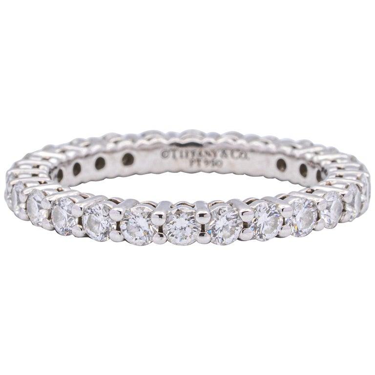 Tiffany & Co. Embrace Eternity Ring in Platinum .80 Carat E-F VS For Sale