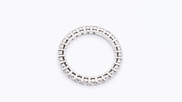 Tiffany & Co. Embrace Eternity Ring in Platinum .80 Carat E-F VS In Excellent Condition For Sale In New York, NY