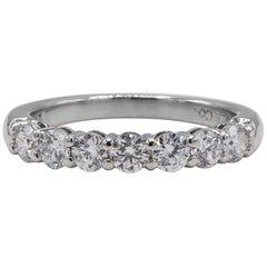 Tiffany & Co. Embrace Platinum Diamond 7-Stone .57 Carat Wedding Band Ring