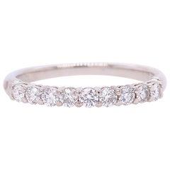 Tiffany & Co. Embrace Round Diamond Band Ring Platinum 0.27 Carat
